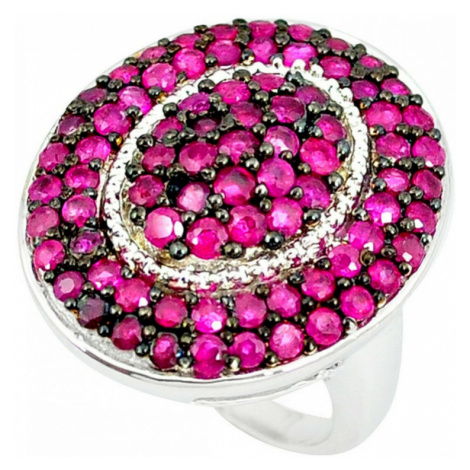 AutorskeSperky.com - Stříbrný prsten s rubínem - S3011