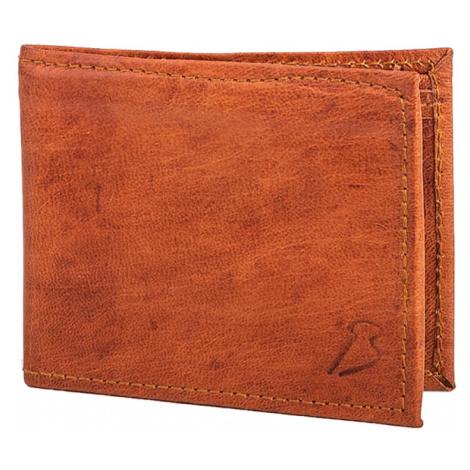 Bagind Valey - Dámská i pánská kožená peněženka hnědá, ruční výroba, český design