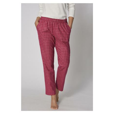 Fuchsiové pyžamové kalhoty Mix&Match Tapered Trouser Flannel Triumph