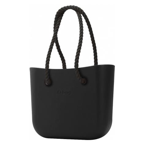 O bag kabelka Nero s černými dlouhými provazy