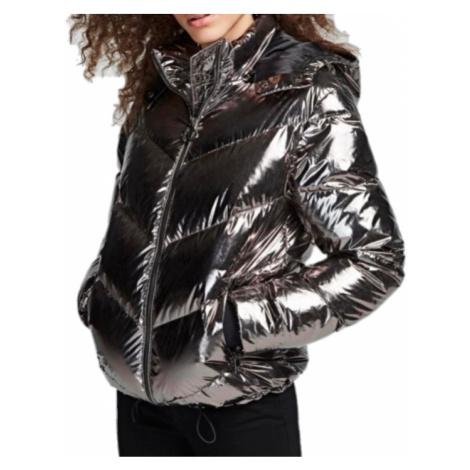 Stříbrná zimní bunda KARL LAGERFELD