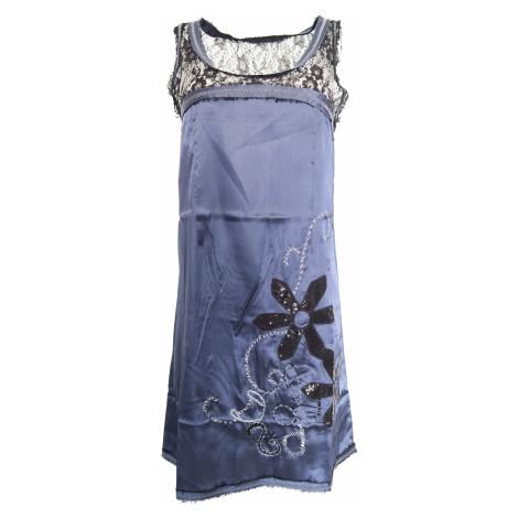 Desigual saténové krajkové šaty