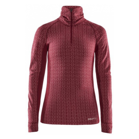 Dámské tričko CRAFT Merino 240 Zip LS červená