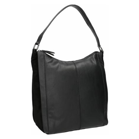 Kožená kabelka v Hobo stylu černá Baťa