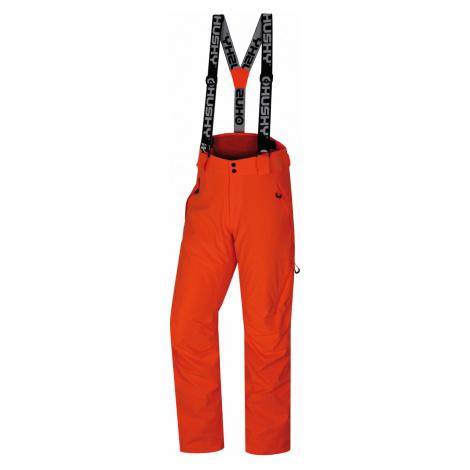 Husky Mitaly pánské lyžařské kalhoty neonově oranžové