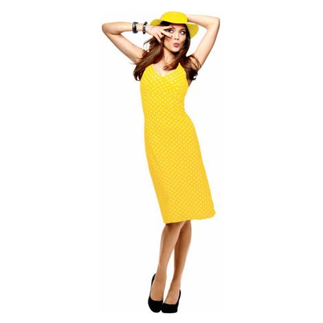 VIVANCE COLLECTION VIVANCE COLLECTION letní žluté šaty na ramínka