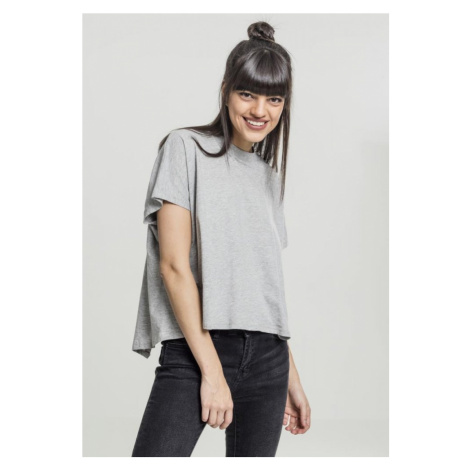 Ladies Overlap Turtleneck Tee - grey Urban Classics