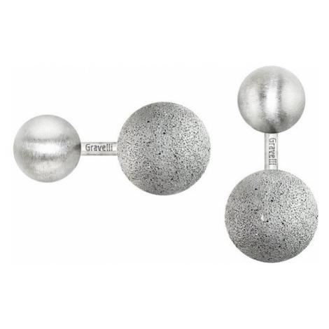 Manžetové knoflíčky Beads – světle šedá Gravelli