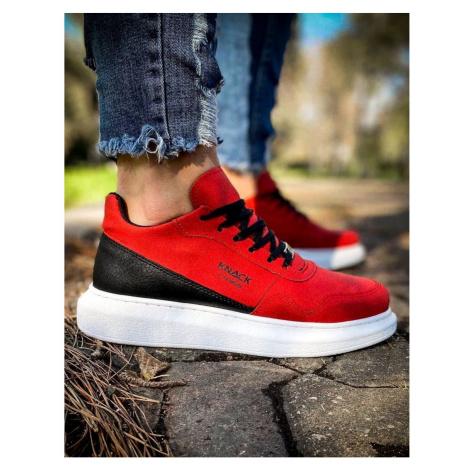 Red men's sneakers ZX0155 DStreet