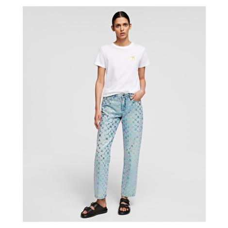 Džíny Karl Lagerfeld Karl Tetris Straight Leg Denim - Modrá