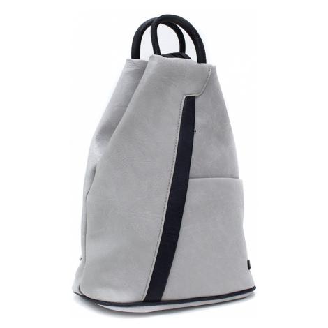 Šedomodrý moderní dámský batoh Kilie Mahel