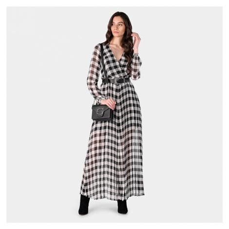 Guess dámské kostkované dlouhé šaty