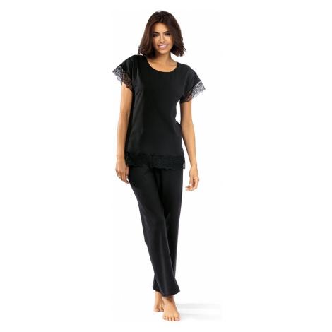 Černé bavlněné pyžamo Marsie Lorin