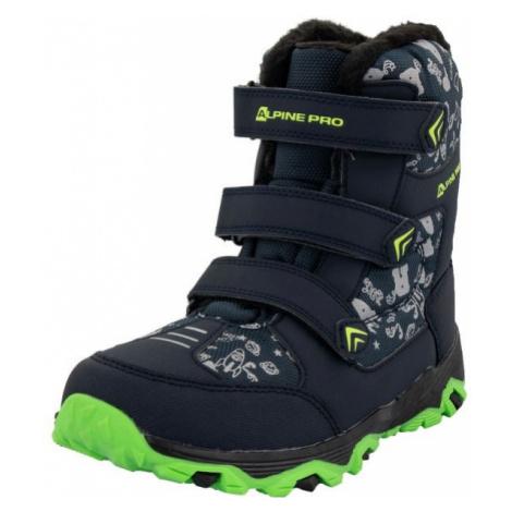 ALPINE PRO TRISTO tmavě modrá - Dětská zimní obuv