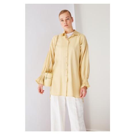Trendyol Ecru Shirt Collar Tunic