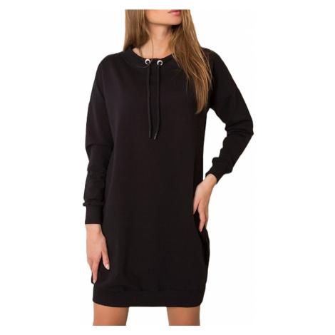 černé mikinové šaty BASIC