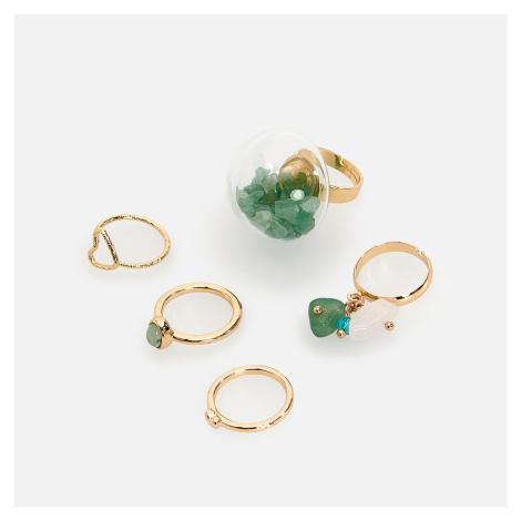 Reserved - Sada 5 prstenů - Zlatá