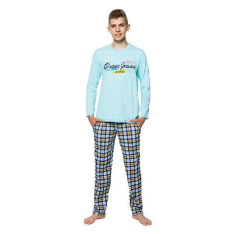 Chlapecké pyžamo s nápisem Marián tyrkysové Taro