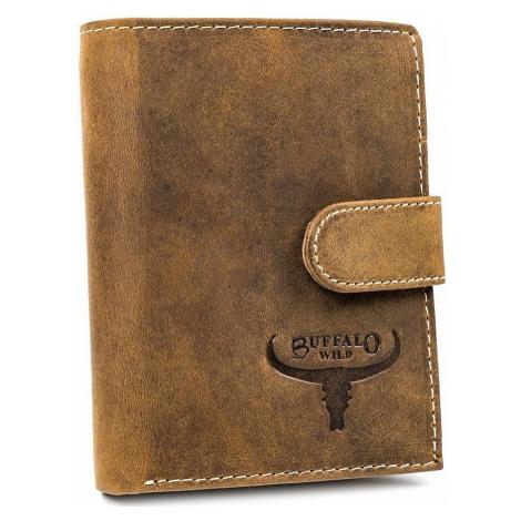 Buffalo wild pánská béžová kožená peněženka