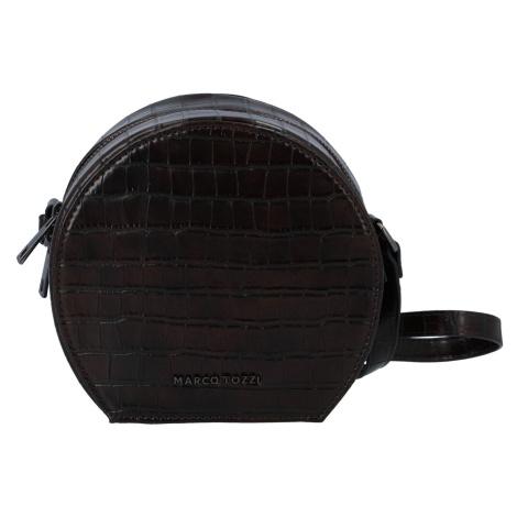 Módní stylová crossbody kabelka kávově hnědá - Marco Tozzi Kroko