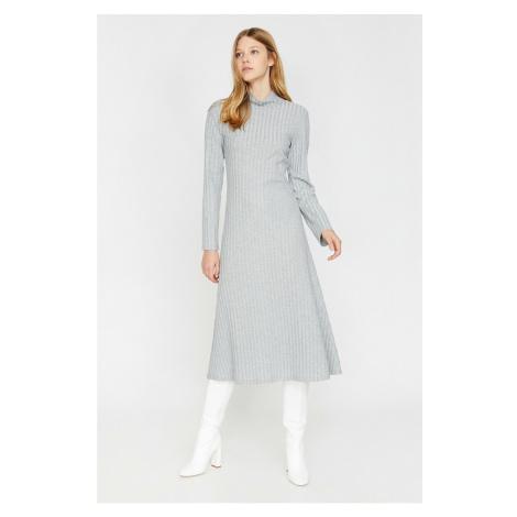 Koton Women Gray High Neck Dress