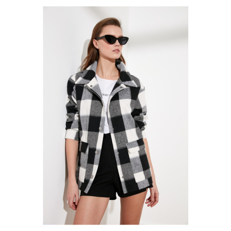 Women's coat Trendyol Plaid