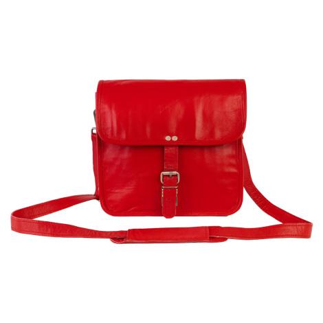 Bagind Indiana Red - Dámská i pánská kožená taška crossbody červená, ruční výroba, český design