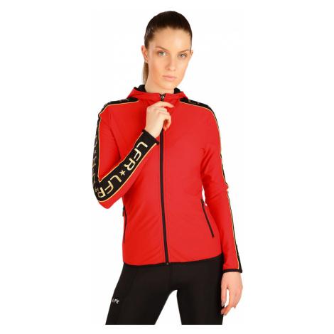 LITEX Mikina dámská s kapucí J1282306 červená