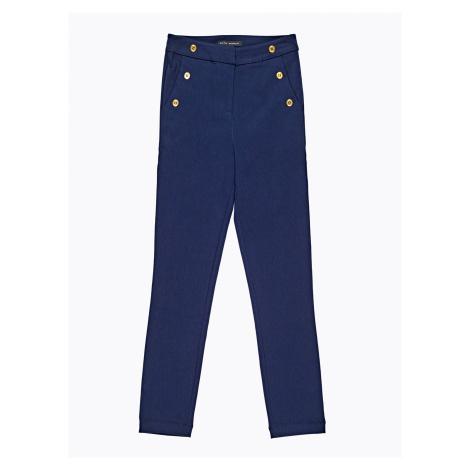 GATE Kalhoty slim s vysokým pasem a ozdobnými knoflíky