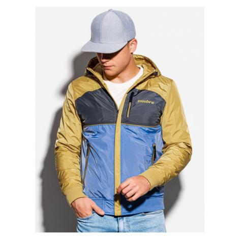 Ombre Clothing Pohodlná přechodná bunda v světle modré barvě C447