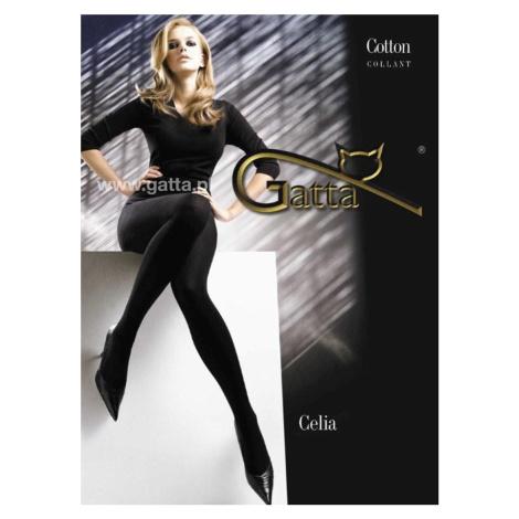 Dámské bavlněné punčochové kalhoty CELIA černá Gatta