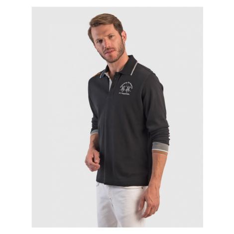 Polokošile La Martina Man Polo L/S Jersey Interlock - Černá