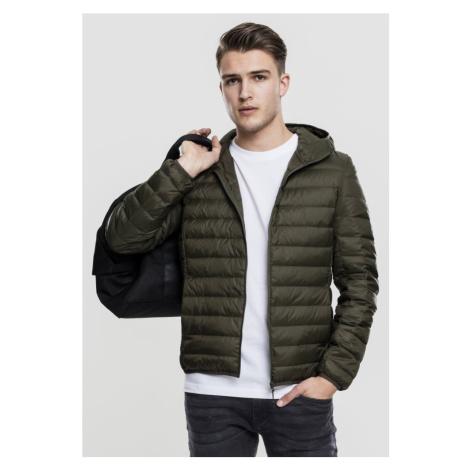 Basic Hooded Down Jacket - dark olive Urban Classics