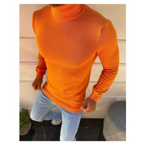 Orange men's turtleneck sweater WX1594 DStreet