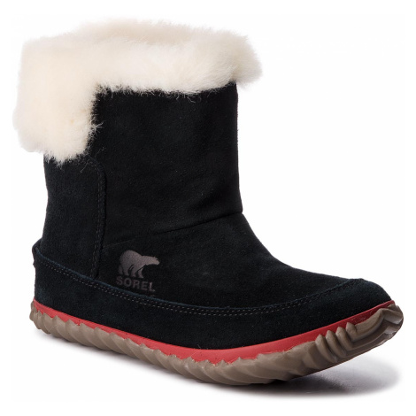 Polokozačky SOREL - Out N About Bootie NL3073 Black/Natural 010
