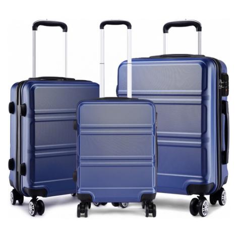 Modrý cestovní kvalitní set kufrů 3v1 Kylah Lulu Bags