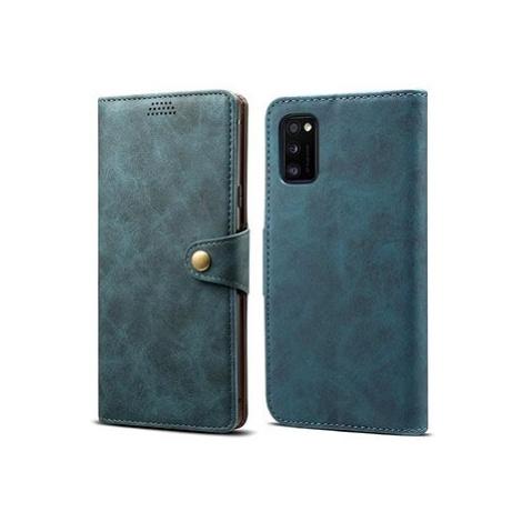 Lenuo Leather pro Samsung Galaxy A41, modrá