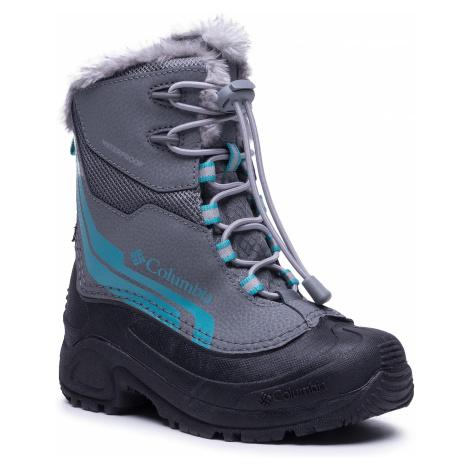 Sněhule COLUMBIA - Youth Bugaboot Plus IV Omni-Heat BY5954 Ti Grey Steel/Pacific Rim 033