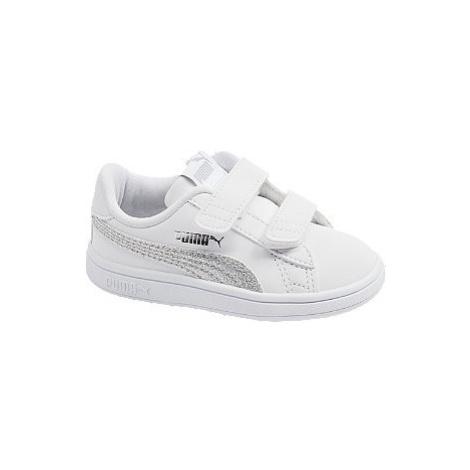 Bílé tenisky na suchý zip Puma