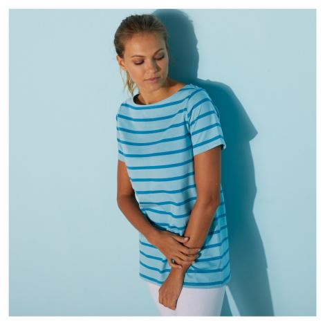 Blancheporte Pruhované tričko modrá/bledě modrá