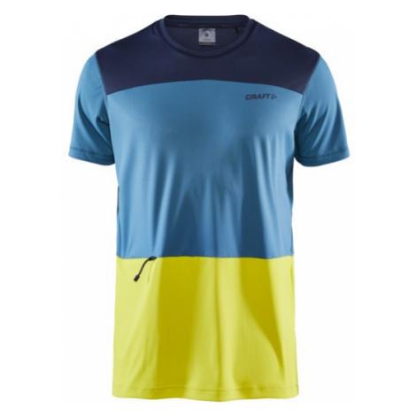 Pánské tričko CRAFT Charge Tech SS modrá/žlutá