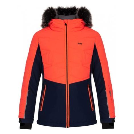 Loap OKUMA oranžová - Dětská lyžařská bunda