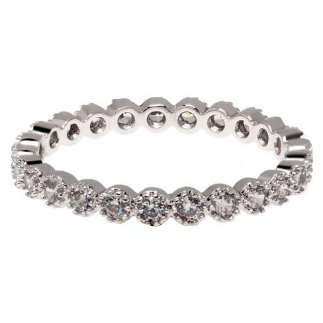 Anna Grace prstýnek Silver Sparkle Crystal 68 - 16 mm