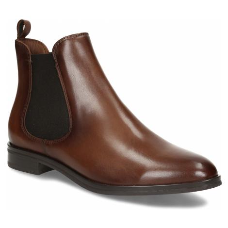 Kožená dámská Chelsea obuv hnědá Baťa