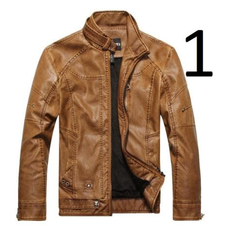 Pánská koženková bunda s podšívkou bunda z umělé kůže