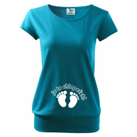 Vtipné těhotenské tričko Je to chlapeček - kluk BezvaTriko