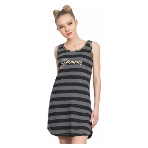 Dámská noční košile na ramínka Vienetta Secret Glamour | tmavě šedá
