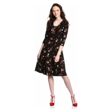 Denní šaty s krajkou černé s květy Vive Maria Eva