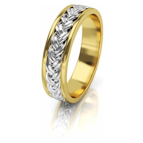 Art Diamond Dámský proplétaný snubní prsten ze zlata AUG008
