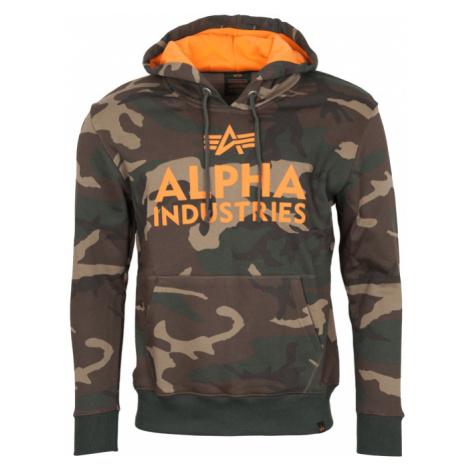 Alpha Industries Mikina Foam Print Hoody woodland camo 65